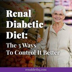 Renal Diet Menu, Diabetic Meal Plan, Diabetic Recipes, Diet Recipes, Diabetic Foods, Kidney Friendly Foods, Diabetic Friendly, Kidney Health, Kidney Detox