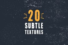 This exclusive freebie set of 4 Subtle grunge vector textures can be used to breathe life into your cold digital artwork. You can use these textures to easily add a worn look to t-shirt designs, lettering pieces, photos, and more.  You can buy the full set of 20 Subtle Grunge Textures Bundle on Creative Market. SCREENSHOTS #freebie #graphic #design