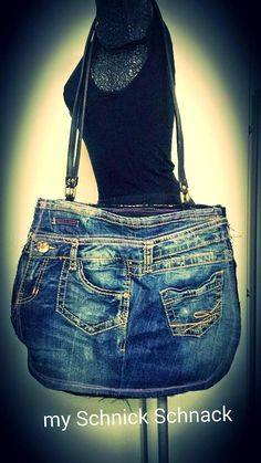 I love it - Bag DIY Upcycling Jeans
