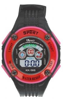 LED Digital Watch with Calendar, 30m Water Resistance Red Womens. Item No. : 55561 Price : $4.99 Category : Sport Watches