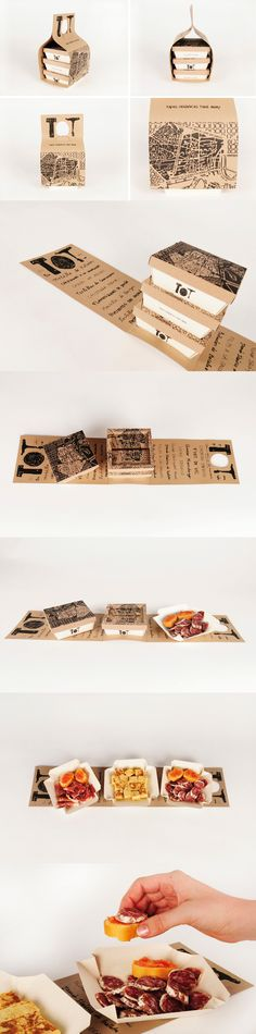 TOT Take-Away boxes (Student Work)  Designed by Gloria Kelly, student of Elisava, Barcelona/ Spain