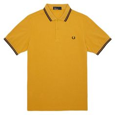 Fred Perry Twin Tipped Shirt Mustard Yellow/Black