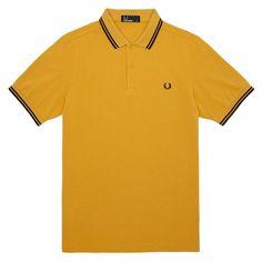 dc9e4a37a0b1 Fred Perry Mod Classic Laurel Wreath Tipped Pique Polo Shirt Mustard  Thumbnail 1