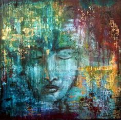 Mixed media art and mixed media art classes and workshops. Mixed Media Faces, Mixed Media Art, Mix Media, Flow Painting, Painting & Drawing, Collages, Mixed Media Journal, Face Art, Art Faces