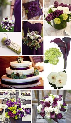 Eggplant and tangerine wedding