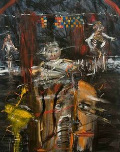"""Babel"" by Michael Hafftka Neo Expressionism, Naive Art, Various Artists, Figurative Art, Cool Artwork, Art Forms, All Art, Folk, Illustration Art"