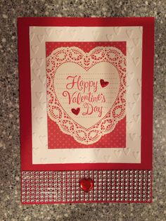 Valentine card with bling