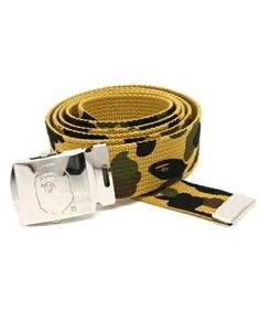 A-BATHING-APE-1ST-CAMO-GI-BELT-yellow-camo-cool-men-bape-face-pants-ape-head-r