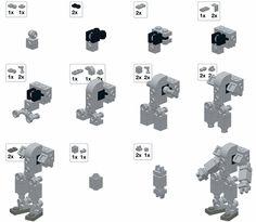 Resultado de imagen para how to make a lego mini robot Lego Moc, Lego Lego, Lego Batman, Lego Design, Notice Lego, Legos, Instructions Lego, Lego Custom Minifigures, Lego Minifigs