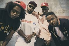 Black Hippy. Gotta love em. Big hair crush on Ab Soul. (not they way it looks in this pic tho)