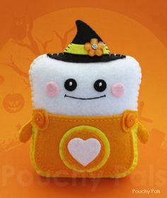 Candy Corn Pouchy Pal