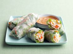 Chicken Summer Rolls Recipe : Food Network Kitchen : Food Network - FoodNetwork.com