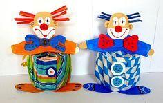 Bastelideen/basteln-bunte-Dosen-Clowns-Servietten-Fasching