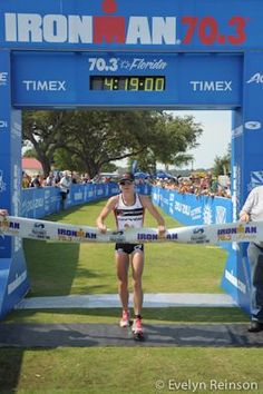 Mary Beth Ellis takes the overall female title at IM 70.3 Florida.
