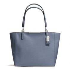 The Madison East/west Tote In Saffiano Leather from Coach Cornflower (Blue) / Silver -- likey likey <3