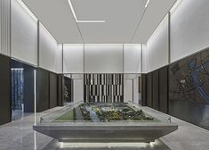 dothink sales center in huangzhou integrates oriental charm into a contemporary context Black Granite Tile, Interior Design Living Room, Interior Decorating, Roof Truss Design, Experience Center, Sales Center, Sales Office, Amazing Spaces, Model Homes