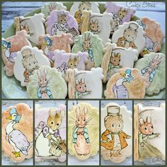 Hand-painted Beatrix Potter Characters By Laurie Angle { Cookie Bliss } www.facebook.com/CookieBliss www.flickr.com/photos/laurieanglen/ http://cookieconnection.juliausher.com/profile/328791182516483915