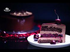 Tort de Mousse 'Padurea Neagra' / 'Black Forest' Entremet Cake (EN. SUB.) - YouTube Entremet Cake, Mousse Cake, Black Forest, Something Sweet, Tiramisu, Cheesecake, Deserts, Ethnic Recipes, Food