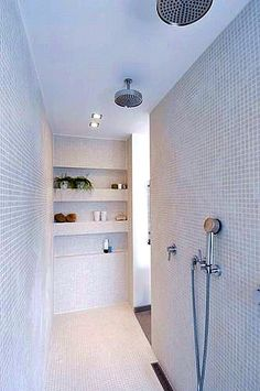 For the past year the bathroom design ideas were dominated by All-white bathroom, black and white retro tiles and seamless shower room Bathroom Renos, Laundry In Bathroom, Bathroom Interior, Bathroom Taps, Bathroom Renovations, Concrete Bathroom, Bathroom Showers, Bathroom Countertops, Design Bathroom
