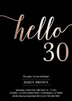 Birthday engaging 30th birthday cocktail party invitations high these black and gold 30th birthday invitations are a perfect way to invite friends and family stopboris Image collections