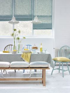 Swaffer - fine furnishing fabrics - stunning fresh interior for the New Year! Modern Net Curtains, Curtains With Blinds, Window Curtains, Made To Measure Blinds, Budget Blinds, Window Coverings, Window Treatments, Shades Blinds, Roman Blinds