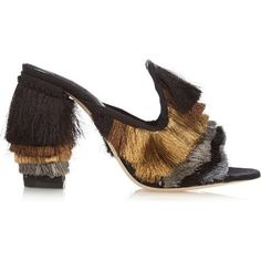 Sanayi 313 Cascata Fringe Slide Sandals as seen on Lily Aldridge
