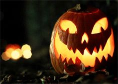 The soft flicker of flames glowing inside these jack-o'-lanterns. | 21 Moments That Will Get You Excited For Fall