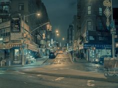 "Eerie Film Noir Scenes Captured on the Streets of NYC's Chinatown | ""The Corner""  Franck Bohbot  