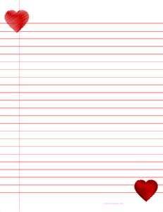 Valentine Paper To Print
