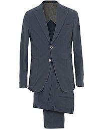 Edgar Cotton Stretch Patch Pocket Suit Blue