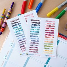 30 Cancelled Stickers - White Background by FasyShop on Etsy