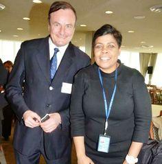 Gerard Mc Keon, Publisher, Black Tie International Magazine, Ms. Annette Richardson, Partnership Advisor, UN Office of Partnerships