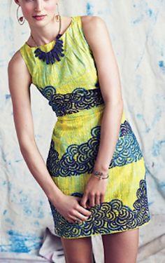 beautiful #yellow midi dress http://rstyle.me/n/kzjg2r9te