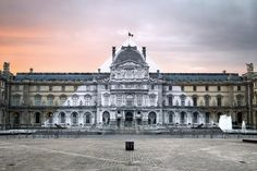 The French street artist JR brings together architectural past and present with a sleight of hand.