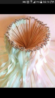 Wedding Wands - 100 double ribbon wands with bells, party streamers, wedding send off, customize your colors Wedding Ideias, Diy Wedding, Wedding Favors, Wedding Reception, Dream Wedding, Wedding Decorations, Wedding Day, Reception Ideas, Craft Wedding