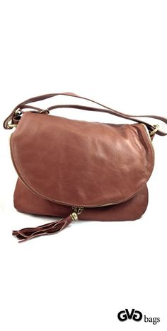 Sissy - Womens Brown Genuine Leather Handbag #Sissy #Women #Leather #ShoulderBag gvgbags.com