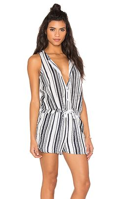 Shop for Stateside Vertical Navy Stripe Veil Tied Waist Sleeveless Romper in White at REVOLVE. Free 2-3 day shipping and returns, 30 day price match guarantee.