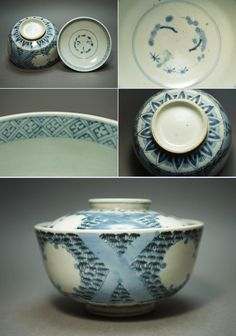 imari ware / ca.1800s hand-painted snow and bamboo desgin