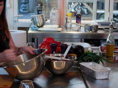 Préparation du plat à la Grill Academy du 2 mai 2013 (photo : ©MelleBonPlan)