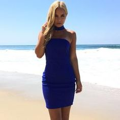 Making Music Dress In Royal Blue                           | Dainty Hooligan Boutique