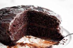 Chocolate Cake - Cafe Delites Dense Chocolate Cake Recipe, Chocolate Turtle Cakes, Chocolate Pudding Cake, Decadent Chocolate Cake, Best Chocolate Cake, Chocolate Flavors, Melting Chocolate, Chocolate Dreams, Chocolate Ganache