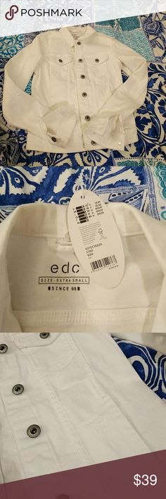 NWT EDC esprit white denim jacket xs Brand new white denim jacket from EDC esprit Fits perfectly but I think I'm scared to wear it :p Perfect condition Esprit Jackets & Coats Jean Jackets