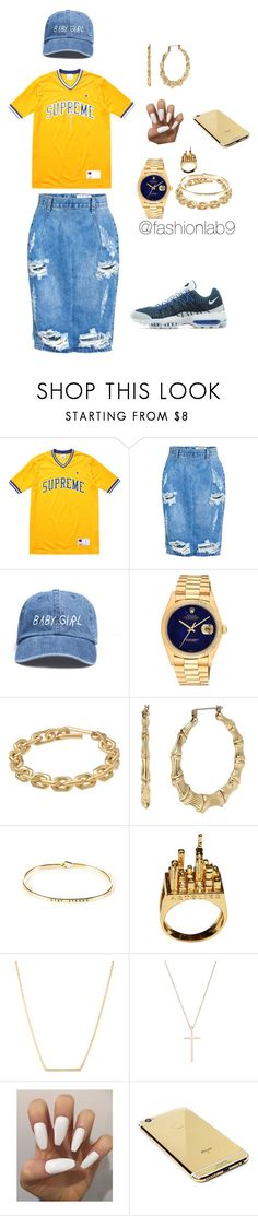 """Untitled #1136"" by alana-andrea-bacchus on Polyvore featuring Champion, One Teaspoon, Rolex, Calvin Klein, Betsey Johnson, Kate Spade, Tiffany & Co. and Goldgenie"