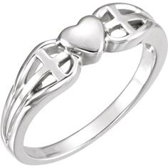 Heart  Cross Ring  Size 7 >>> Be sure to check out this awesome product.Note:It is affiliate link to Amazon.