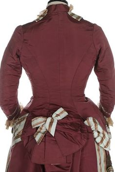 Lot 52 - A Charles Frederick Worth visiting dress, circa 1875,