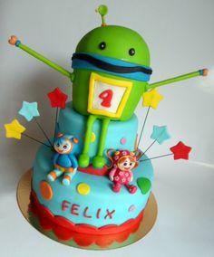 Team Umizoomi birthday cake http://alatarte.wix.com/alatarte