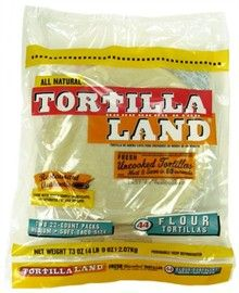 Picture of Uncooked Flour Tortillas by Tortillaland - 8 inch - 44 Count in Pack- Item No.44946-08210