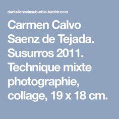 Carmen Calvo Saenz de Tejada. Susurros 2011. Technique mixte photographie, collage, 19 x 18 cm.
