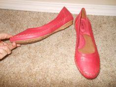 "BORN ""YARA MOUTON"" Flat RED LEATHER Mocasin Style Womens Shoe 11M #Born #YARA #any"