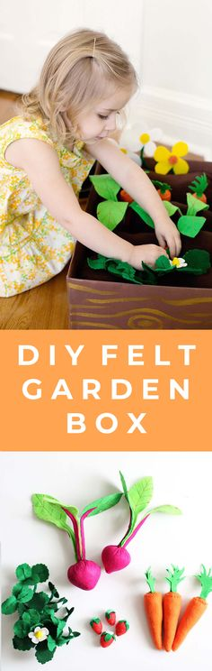 Your kiddos will have a blast playing with this DIY plantable felt garden box project.